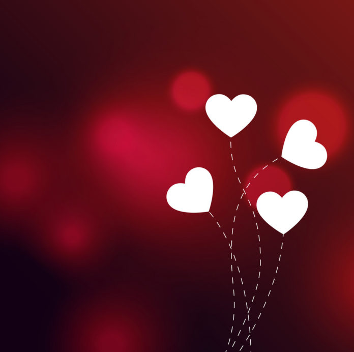elegant-hearts-on-red-bokeh-background-vector-19372215
